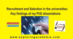 Recruitment and Selection in the universities: Key findings of my PhD dissertations