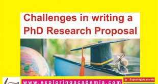 Challenges in writing a PhD research proposal