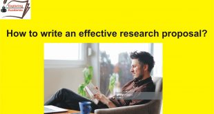 How to write an effective research proposal?
