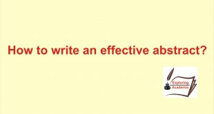 How to write an effective abstract