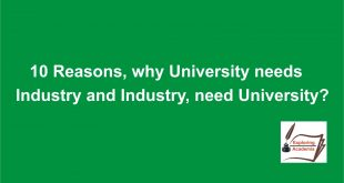 10 Reasons, why University needs Industry and Industry, needs University?