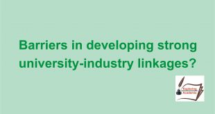 The 10 most powerful barriers in developing strong university-industry linkages?