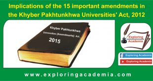 Khyber Pakhtunkhwa Universities' Act