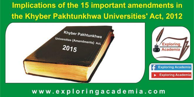 Khyber Pakhtunkhwa Universities' Act