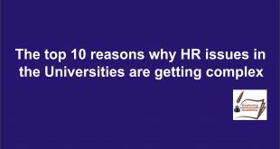 the top 10 reasons why hr issues in the universities are getting complex