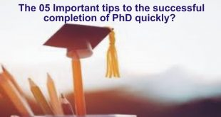 the 05 key points to successful completion of phd quickly